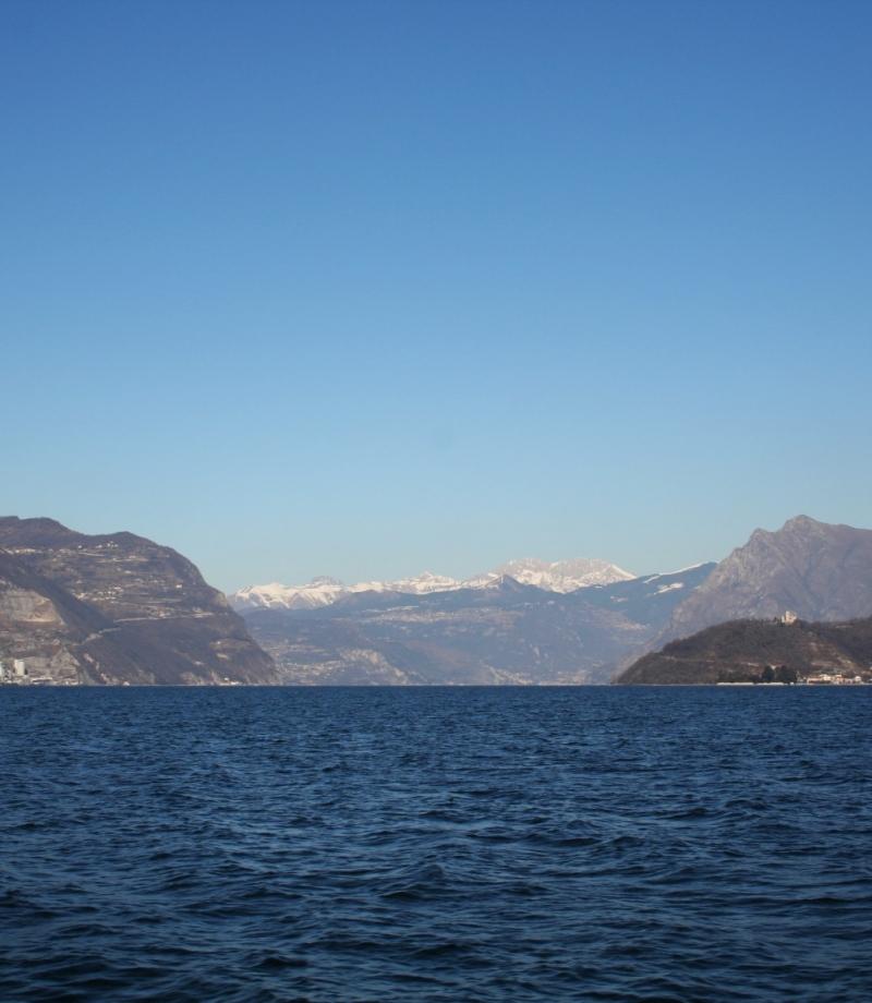 Panoramica sull'alto lago